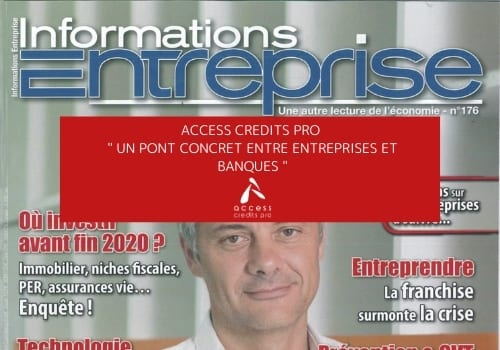Information entreprise - CrediPro Martinique-Guyane